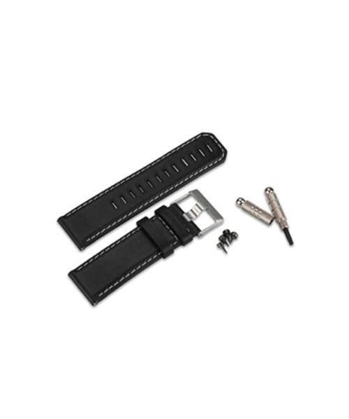 Garmin Leather Wrist Strap, black - for D2 Pilot Watch / fenix / quatix, incl. tools
