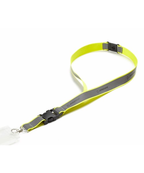 Boeing Neon Yellow Safety Lanyard