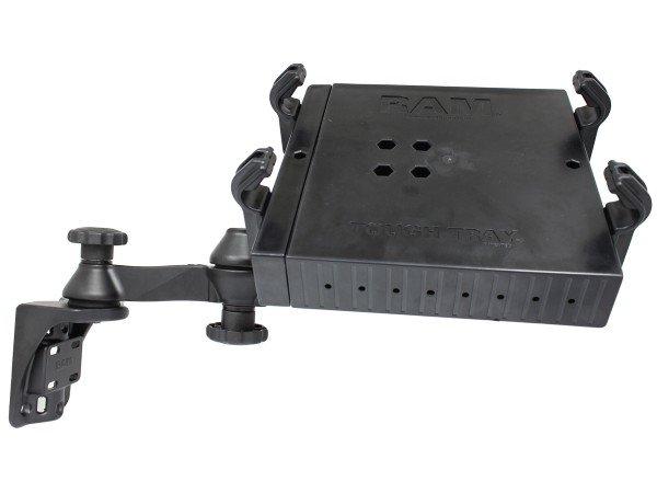 RAM Mounts Doppel-Schwenkarm mit Laptop-/Drucker-Halteschale - Vertikal-Basis, Halteschale, im Polyb