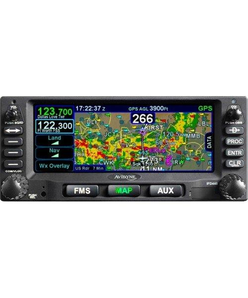 Avidyne IFD440 FMS/GPS/NAV/COM - 10W, schwarz (inkl. Installations-Kit), WiFi, Bluetooth, FLTA