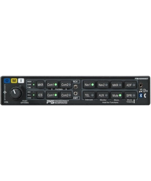 PS Engineering PMA8000BT - 6 Place Intercom with Bluetooth connectivity