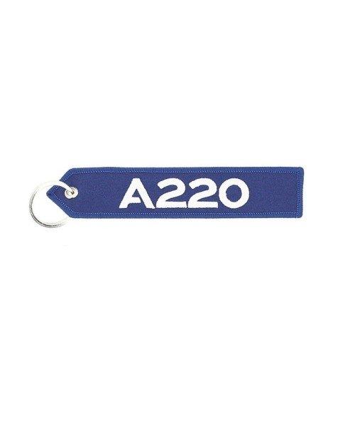 Airbus Schlüsselanhänger A220 - blau/weiß