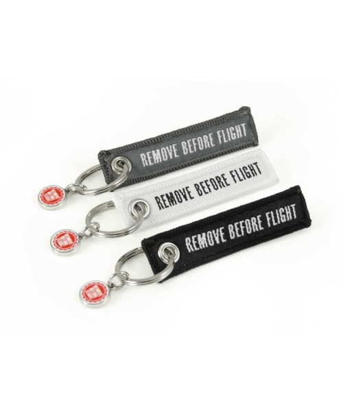Mini-Schlüsselanhänger REMOVE BEFORE FLIGHT - 3er-Set, farblich sortiert