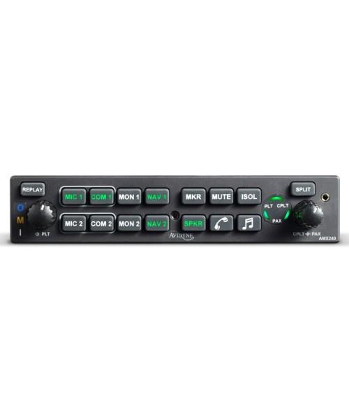Avidyne AMX240 Audio Panel (incl. Install-Kit), black bezel