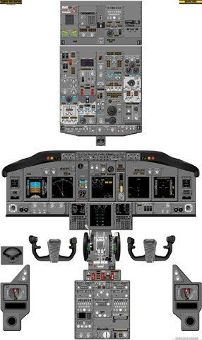 Boeing 737-NG Cockpit Training Poster