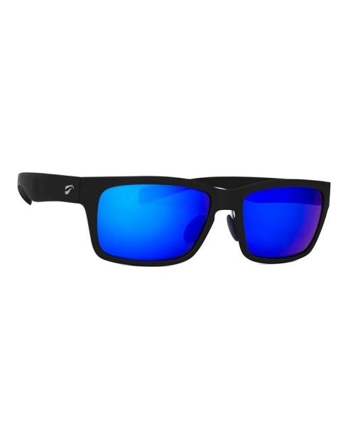 Flying Eyes Sonnenbrille Kingfisher - Rahmen matt-schwarz, Gläser saphirblau (verspiegelt)