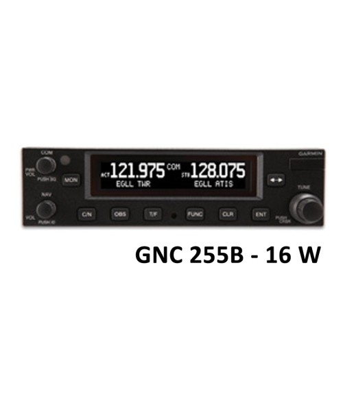 Garmin GNC 255B, Comm/Nav, 8,33 & 25 kHz, 16W - incl. Installation Kit, Helicopters only