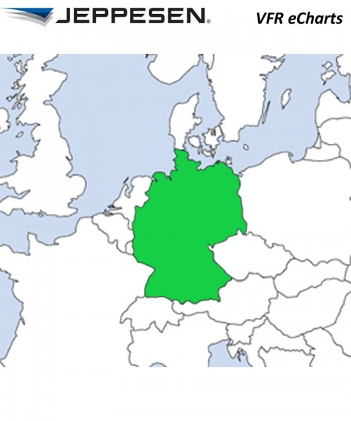 JeppView Electronic Charts VFR Deutschland (Germany) - für Garmin aera 795 / 660, inkl. 12 Monate Be