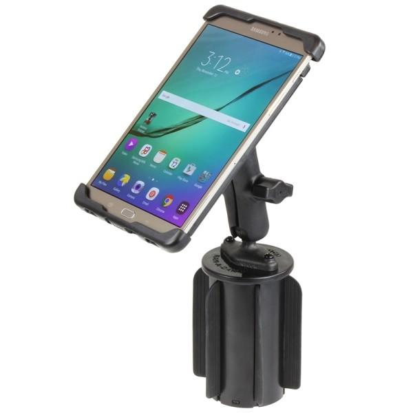 RAM Mounts Fahrzeug-Halterung Samsung Galaxy Tab S2 (8 Zoll) - mit Getränkehalter-Adapter, B-Kugel (