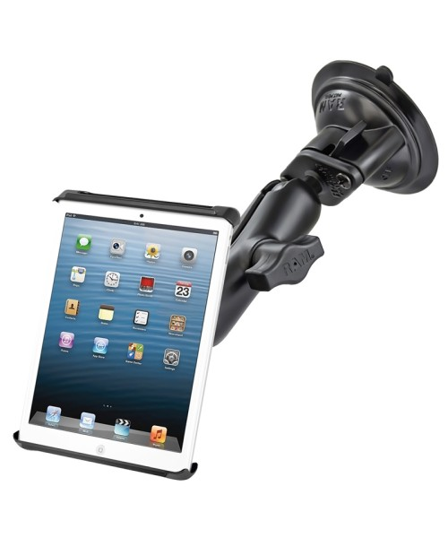 """RAM Mounts Twist Lock Suction Cup Mount with universal Tab-Tite Cradle for 7"""" Tablets (Kindle Fire, Google Nexus 7)"""
