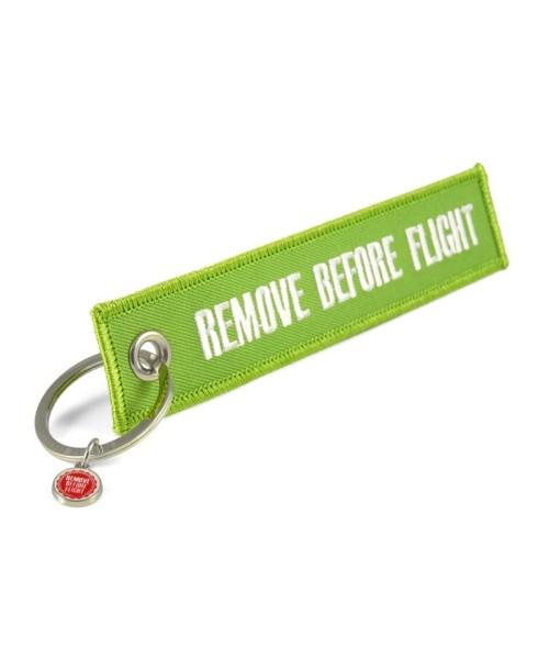 Schlüsselanhänger REMOVE BEFORE FLIGHT - grün