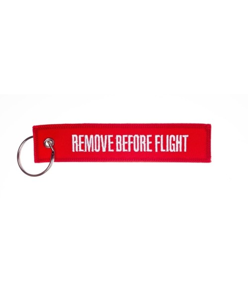 Key Ring REMOVE BEFORE FLIGHT - red/white