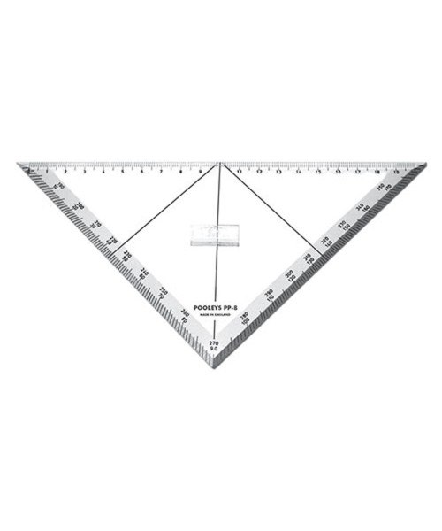 Triangular Track Line Protractor