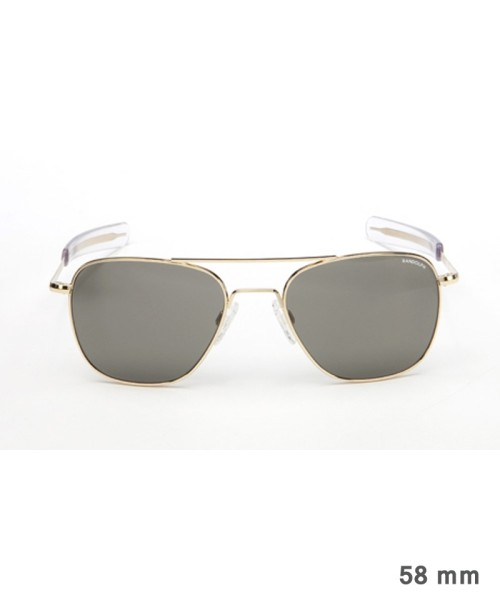 Randolph Aviator Size 58 (large) - gold plated frame, neutral grey lenses, bayonet temples