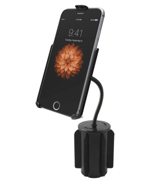 RAM MOUNT Apple iPhone 6/7 PLUS Halterung für Getränkehalter, Flex-Arm (RAP-299-2-AP19U)