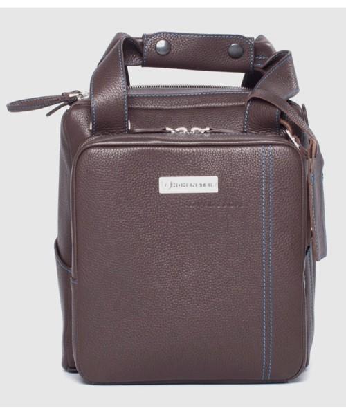 Headset Bag, Leder, braun - Headset-Tasche