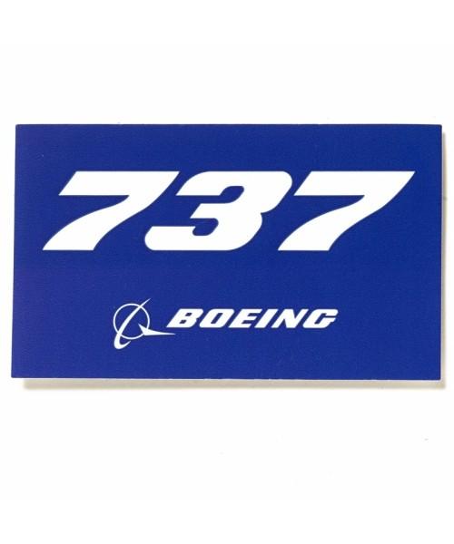 Boeing 737 Blue Aufkleber
