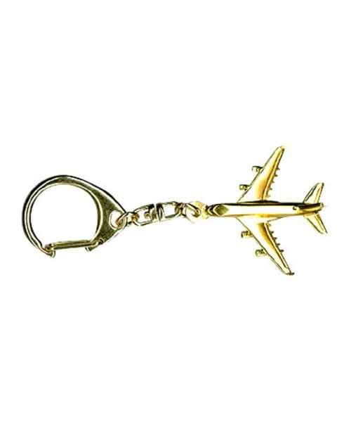 Key Ring Airbus A380 - gold plated
