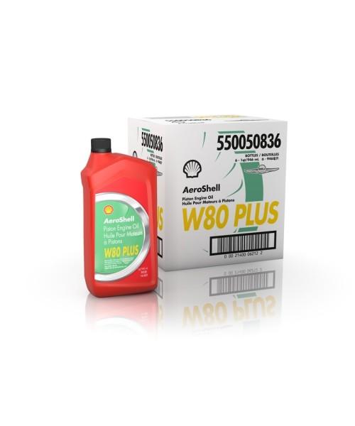 AeroShell Oil W80 PLUS - Karton (6x 1 AQ Flaschen, US-Quart)