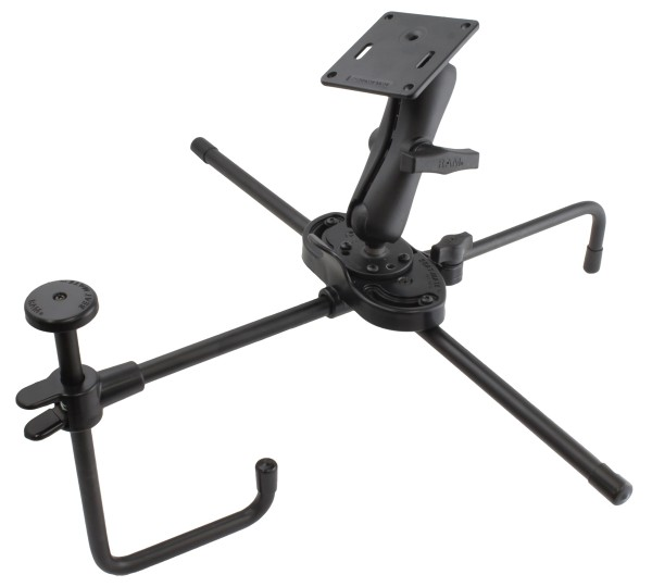 RAM Mounts Seat-Mate Sitzbefestigung mit Aufbau-Set (VESA) - 1x runde Basisplatte, mittlerer Verbind