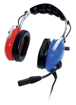 PILOT PA-51C Headset für Kinder - blau-rot