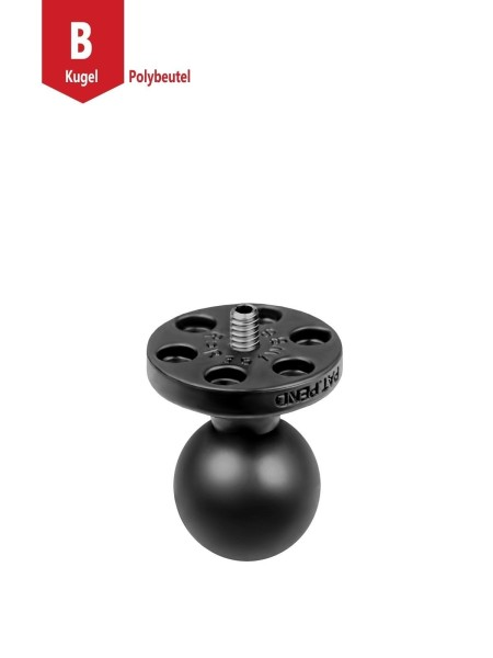 "RAM Mounts Verbundstoff-Basiskugel mit 1/4""-20 Gewindestift - für Kamera-Anbindung, B-Kugel (1 Zoll)"