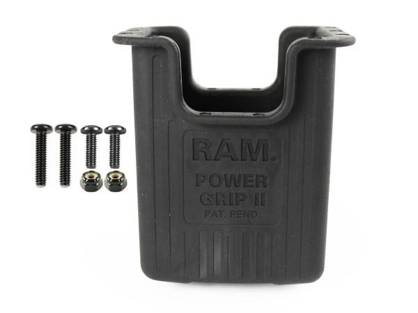 RAM Mounts Power Grip II Halteschale für Scanner etc. - Diamond-Aufnahme (Trapez), Schrauben-Set, im