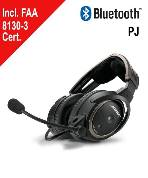BOSE A20 Aviation Headset - PJ-Stecker, gerades Kabel, Bluetooth, inkl. FAA 8130-3 Zertifikat