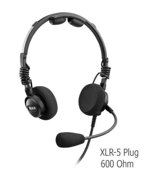 Telex Airman 7 Headset - XLR-5 Plug, 600 Ohm