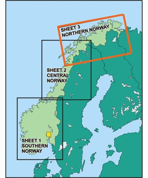 Norwegen ICAO Karte - Blatt Nord, Papier ohne Folie, gefaltet