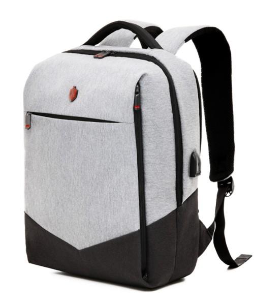 Krimcode Business Formal Backpack - 19.6 liters volume, light gray (KBFB07-1NLGM)
