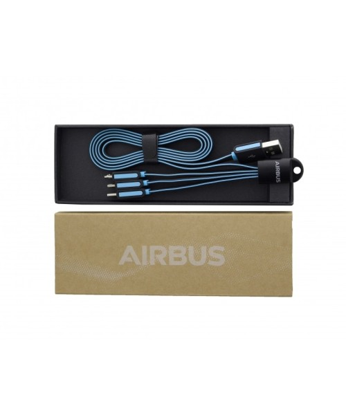 Airbus Universal USB-Ladekabel 3-in-1 - USB-C, mic