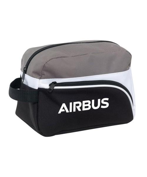 Airbus Toilet Bag - 600D Polyester, black/white/grey