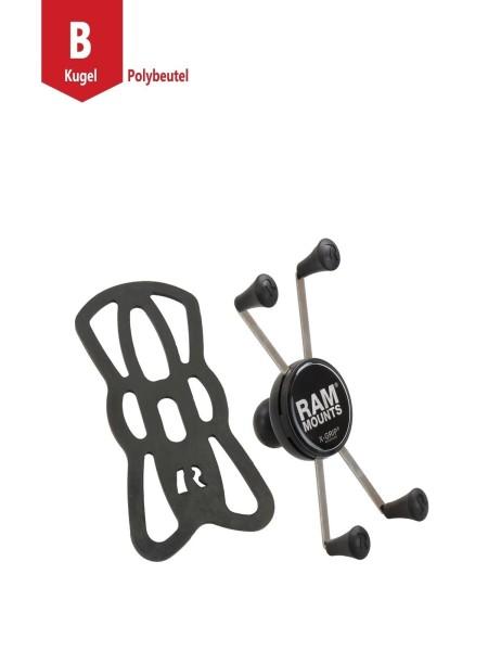 RAM Mounts X-Grip Universal Halteklammer für große Smartphones (Phablets) - mit B-Kugel (1 Zoll), im