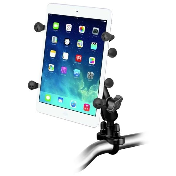 RAM Mounts Lenkerhalterung mit X-Grip Universal Halteklammer für 7 Zoll Tablets - Klemmschelle, mitt