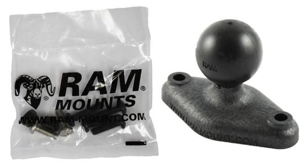 RAM Mounts Verbundstoff Diamond-Basisplatte (Trapez) - B-Kugel (1 Zoll), Schrauben-Set, im Polybeute