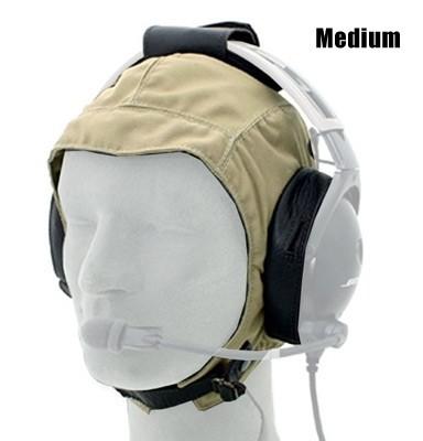 Cloth / Leather Headset Flying Helmet - Medium
