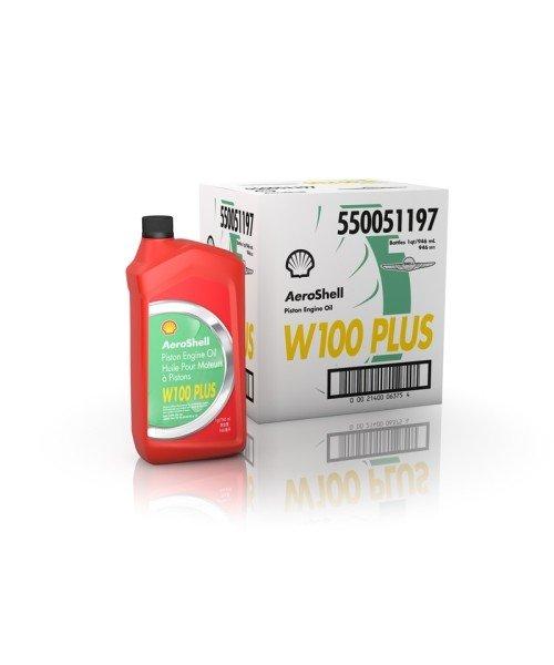 AeroShell Oil W100 PLUS - Karton (6x 1 AQ Flaschen, US-Quart)