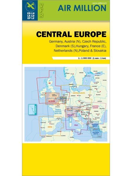Central Europe - Air Million VFR-Karte 1:1.000.000, gefaltet