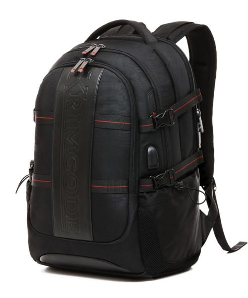 Krimcode Smart Casual Backpack - 36 liters volume, with USB-Port (KSCB11-1U0SM)