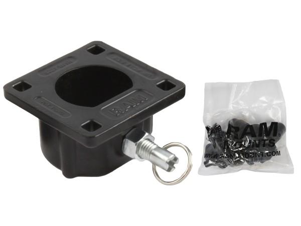 RAM Mounts Remove-A-Pole Basis (weiblich) für Fahrzeuge - mit Steckverschluss, Schrauben-Set