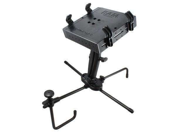 RAM Mounts Seat-Mate Sitzbefestigung mit Tough Tray Laptop-/Drucker-Halteschale - 2x runde Basisplat