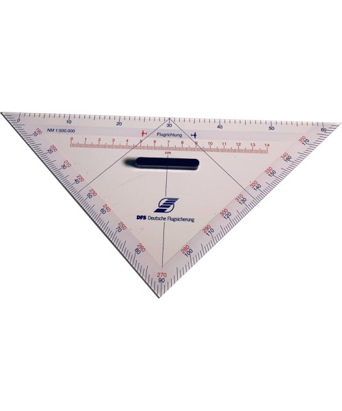 Triangular Track Line Protractor DFS