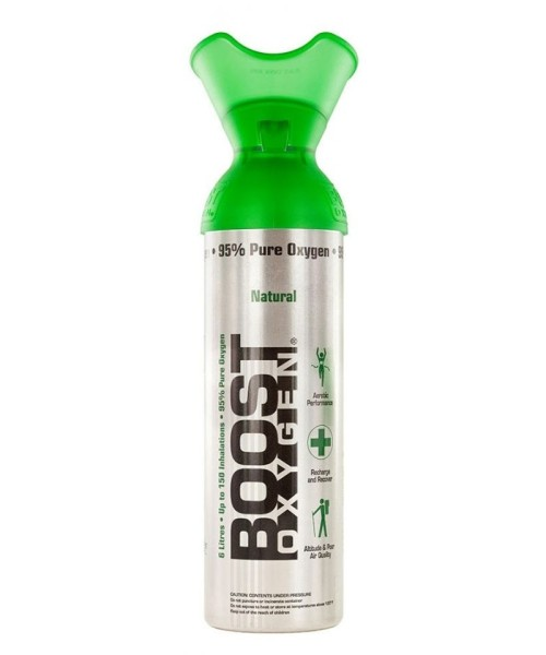 Boost Oxygen Natural - 95% pure oxygen, 9 liters can (approx. 200 Boost Oxygen Shots)
