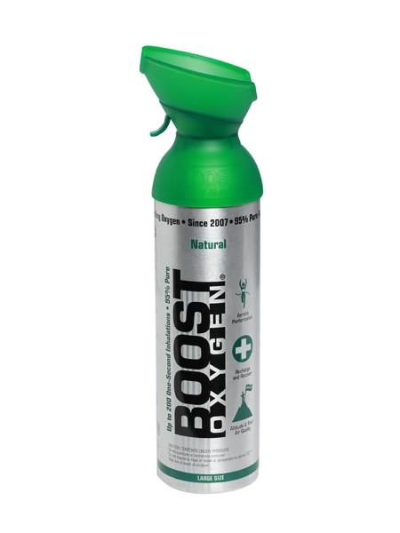 Boost Oxygen Natural - 95% reiner Sauerstoff, 9 Liter Dose (ca. 200 Boost Oxygen Shots)