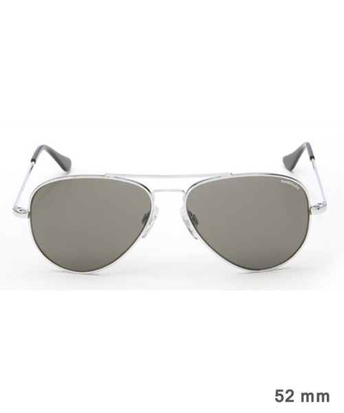 Randolph Concorde Size 52 (small) - bright chrome frame, neutral grey lenses, golf temples