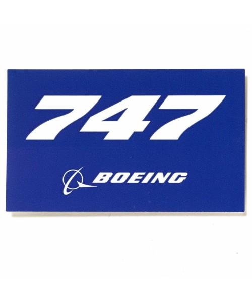 Boeing 747 Blue Aufkleber