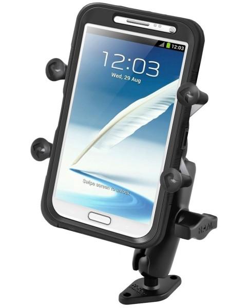 RAM Mounts Aufbauhalterung mit X-Grip Universal Halteklammer für große Smartphones (Phablets) - Diam
