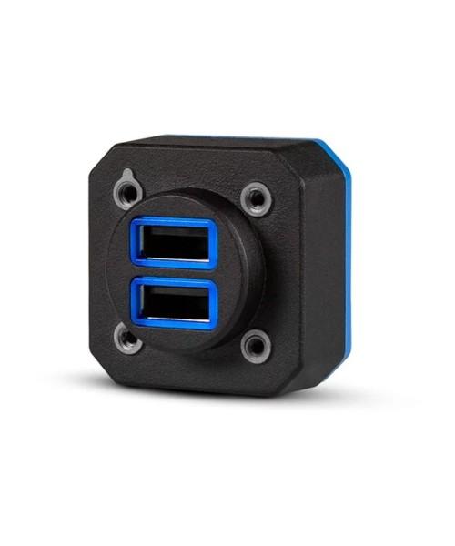 Garmin GSB 15 Doppel-USB-Port (Typ-A) - Einbauversion mit rechtwinkligem Anschluss, TSO-C71