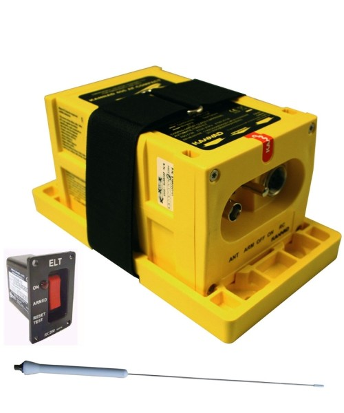 McMurdo ELT 406 Integra AF (incl. GPS) - Package incl. Mounting Bracket, Remote Control (RC200), Whip Antenna